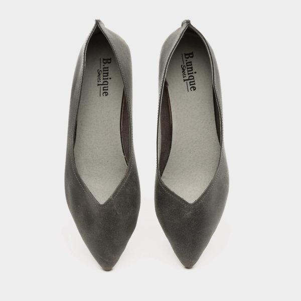 דגם מיכל: נעלי בובה בצבע אפור