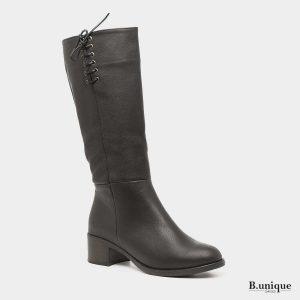 בלעדי לאתר - דגם ספיר: מגפיים בצבע שחור
