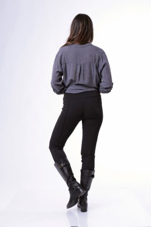 1069 - מכנס טייץ   מילי  בצבע שחור