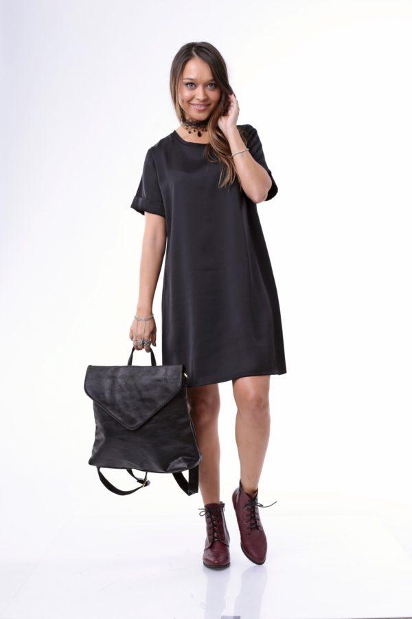 1058 - שמלת  לירי בצבע שחור