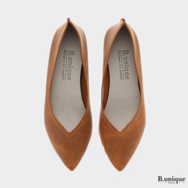 161392 - נעליים מיכל בצבע קאמל