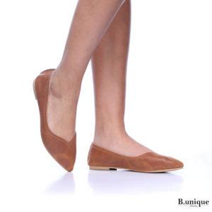 דגם מיכל: נעלי בובה בצבע קאמל