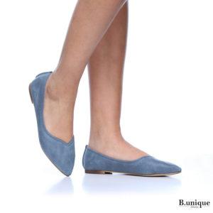 דגם מיכל: נעלי בובה בצבע ג'ינס