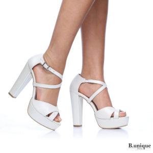 171251 - נעלי עקב פורטו בצבע פנינה