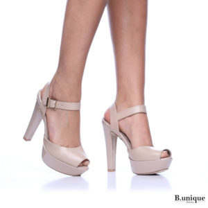 נעלי עקב ליסבון בצבע גוף
