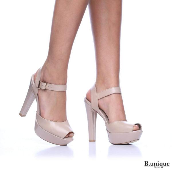 171255 - נעלי עקב ליסבון בצבע גוף