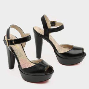 171255 - נעלי עקב ליסבון בצבע שחור