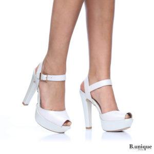 171255 - נעלי עקב ליסבון בצבע פנינה
