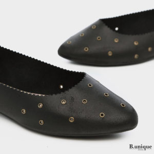 171520 - תל אביב נעלי סירה ניטים בצבע שחור