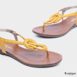 בלעדי לאתר: 171530 - סנדלים סיינה בצבע צהוב