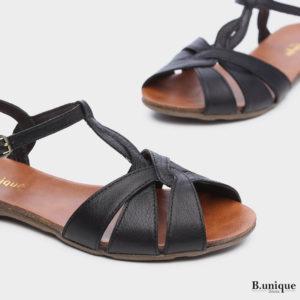 171531 - סנדלים טורינו בצבע שחור