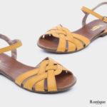 171533 - סנדלים ונציה בצבע צהוב