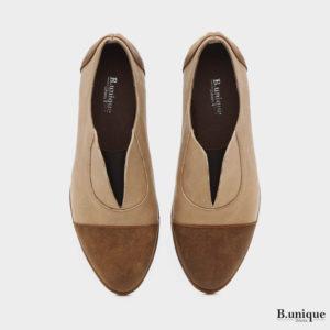 בלעדי לאתר: 173708 - נעליים מדגם ג'יזל בצבע בז'