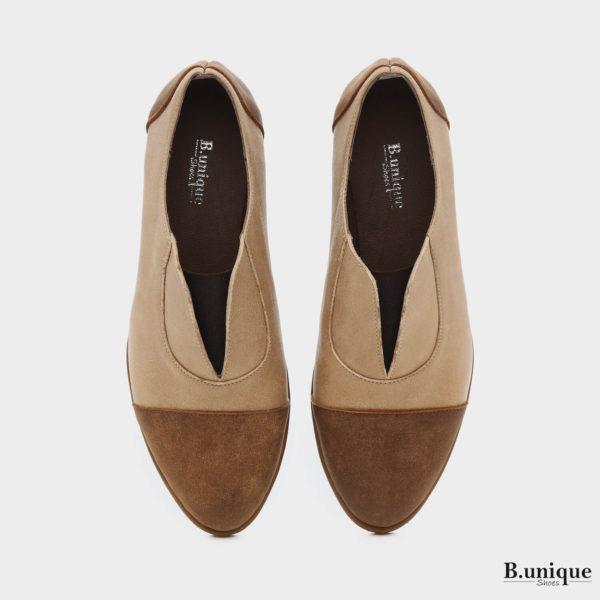 בלעדי לאתר: 173708 - נעליים ג'יזל בצבע בז'