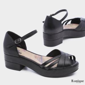בלעדי לאתר: 175021 - סנדלים שטוקהולם בצבע שחור