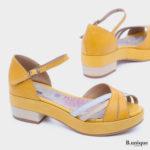 בלעדי לאתר: 175021 - סנדלים שטוקהולם בצבע צהוב