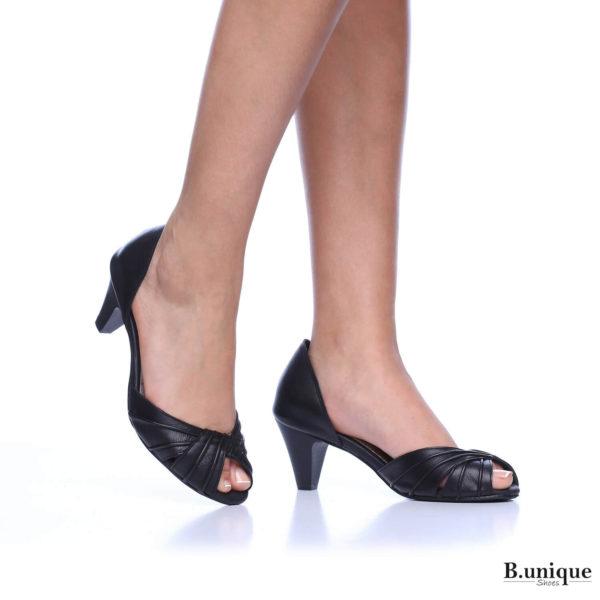 176011 - נעלי עקב אקפולקו בצבע שחור