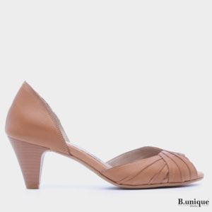 176011 - נעלי עקב אקפולקו בצבע קאמל