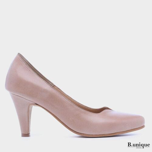 דגם לונדון: נעלי עקב בצבע גוף