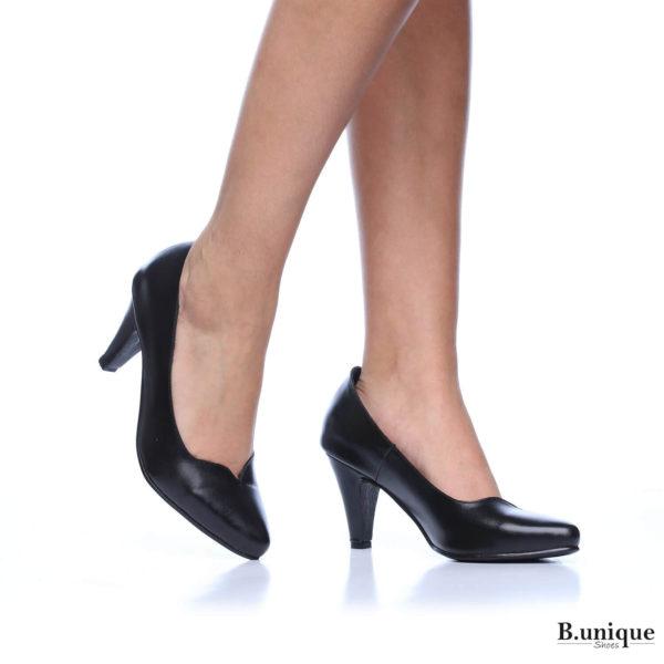 177523 - נעלי עקב לונדון בצבע שחור