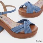178002 - סנדלים פוסן בצבע ג'ינס
