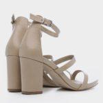 178011 - נעלי עקב קולון בצבע גוף