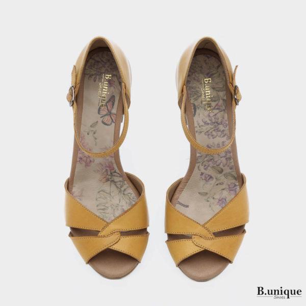 178051 - סנדלים ירושלים בצבע צהוב
