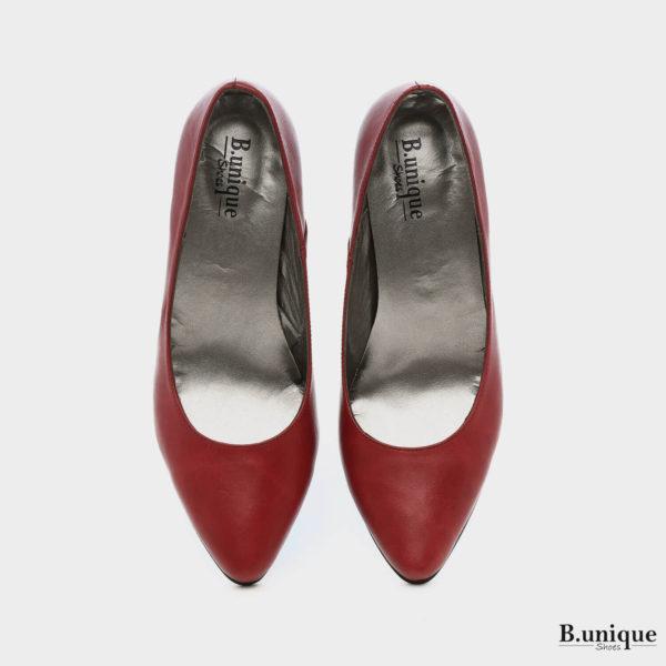 6101 - נעלי סירה שפיץ בצבע בורדו