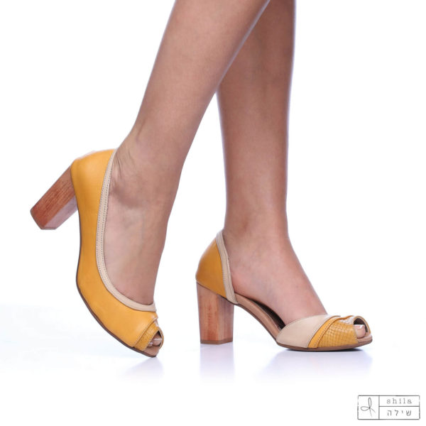בלעדי לאתר: 277570 - סנדלים סיישל בצבע צהוב