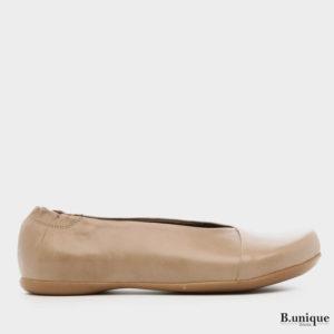 נעליים בלרינה אלכסון בצבע נס קפה