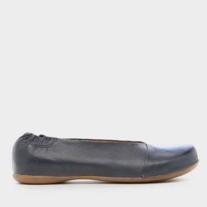 נעליים בלרינה אלכסון בצבע ג'ינס