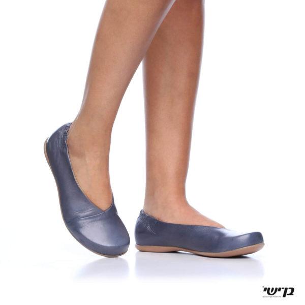 1160 - נעליים בלרינה אלכסון בצבע ג'ינס