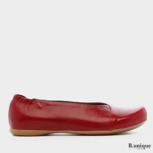 1160 - נעליים בלרינה אלכסון בצבע אדום
