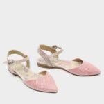 171515 - נעליים גלנדייל בצבע פודרה