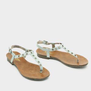 171537 - סנדלים שטוחות ורונה בצבע מנטה