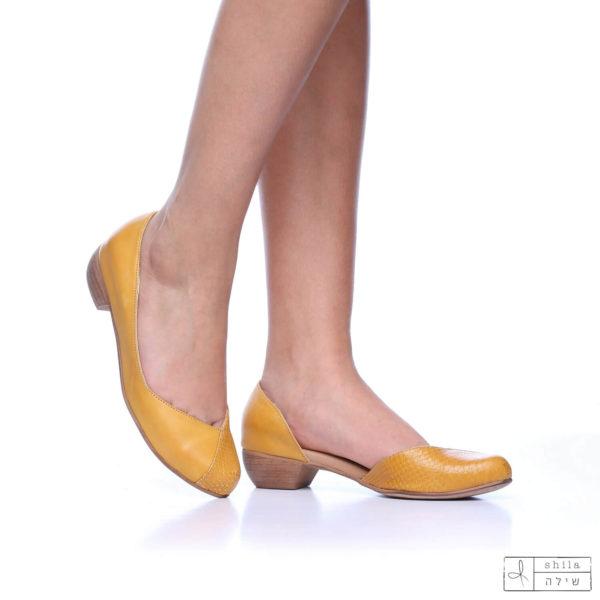 בלעדי לאתר: 273035 - נעליים פיג'י בצבע צהוב