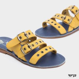371553 - כפכפים טנג'יר בצבע צהוב