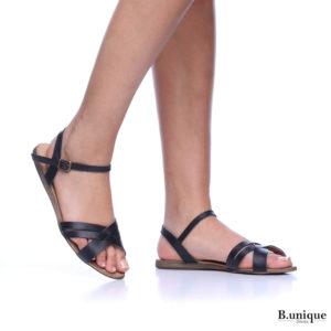 171031 - סנדלים אתונה בצבע שחור