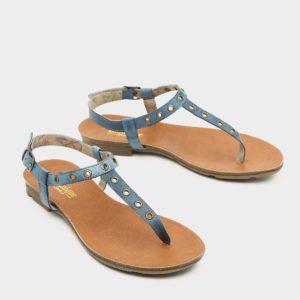 171537 - סנדלים שטוחות ורונה בצבע ג'ינס