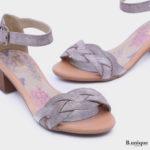 174031 - סנדלי הוואנה בצבע אפור מנצנץ