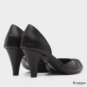 177534 - נעלי עקב אולימפיה בצבע שחור