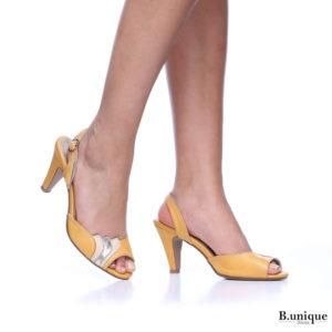 177556 - סנדלים אלגנטים ליון בצבע צהוב