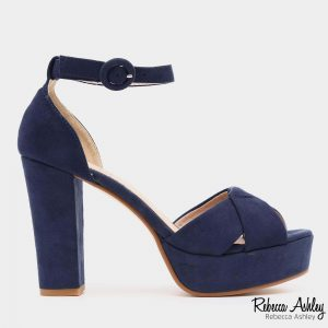 579117 - סנדלי רוז בצבע כחול