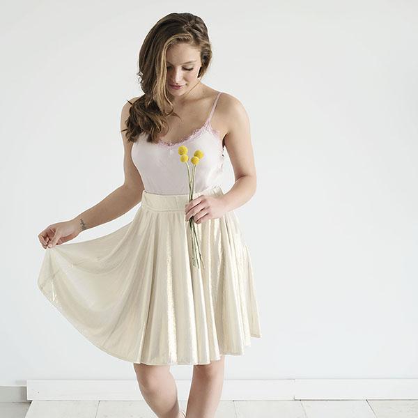 חצאית אשטון – זהב