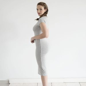 שמלת ג׳ין אפור בהיר