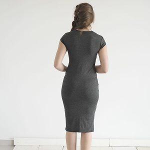 שמלת ג׳ין אפור כהה