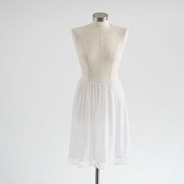 חצאית קומבניזון לבנה