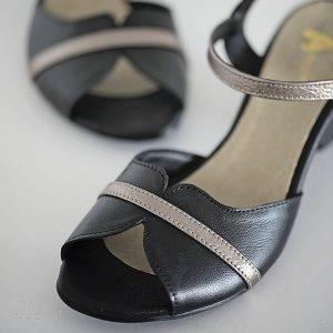 6601 - סנדלי מרגרט בצבע שחור