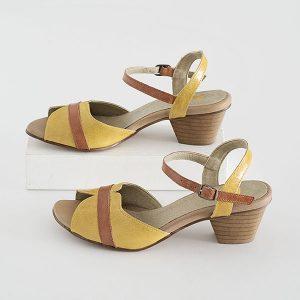 6601 - סנדלי מרגרט בצבע צהוב