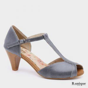 176015 - נעלי עקב מורליה בצבע אפור